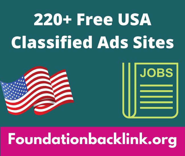 220+ Free USA Classified Ads Sites List 2021 | Ads Posting