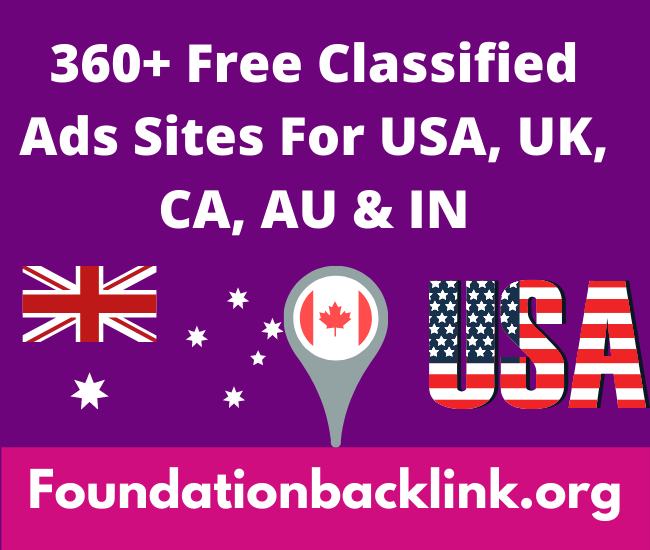 Free Classified Ads Sites For USA, UK