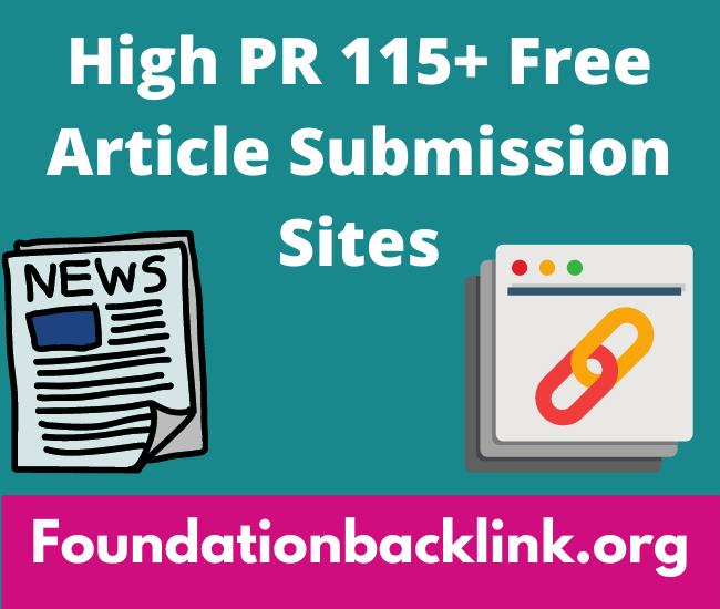 High PR 115+ Free Article Posting Sites List 2021