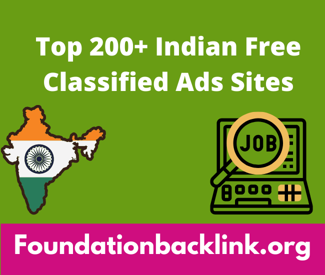 Indian Free Classified Ads Posting Sites List