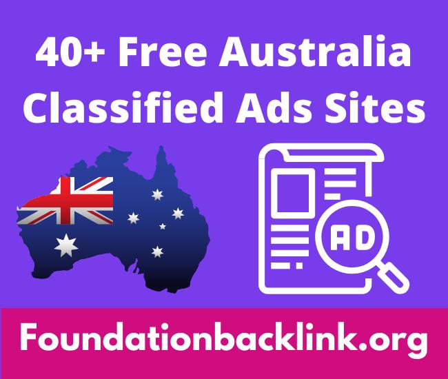 Top 40+ Free Australia Classified Ads Sites List 2021